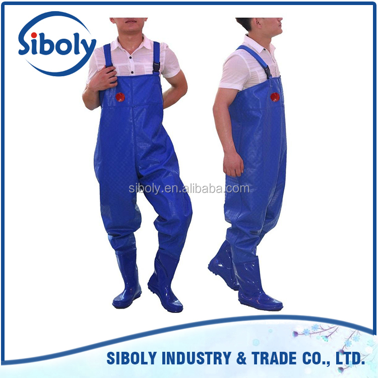 latest products custom plastic chest high fishing waders used as fish farming equipment