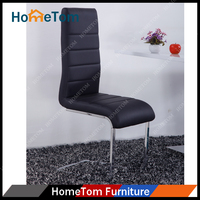 Hometom Wholesale Metal and Leather Modern Dining Chair