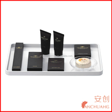 hot selling clear&solid acrylic hotel amenity tray_hotel tray_plastic tray
