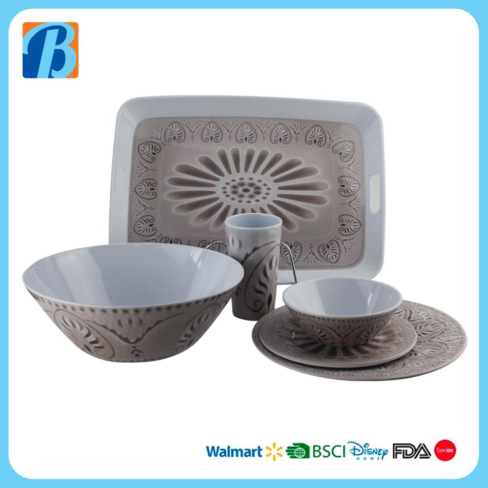 beauty design on the melamine dinnerware set hot sale USA market & beauty design on the melamine dinnerware set hot sale USA market ...