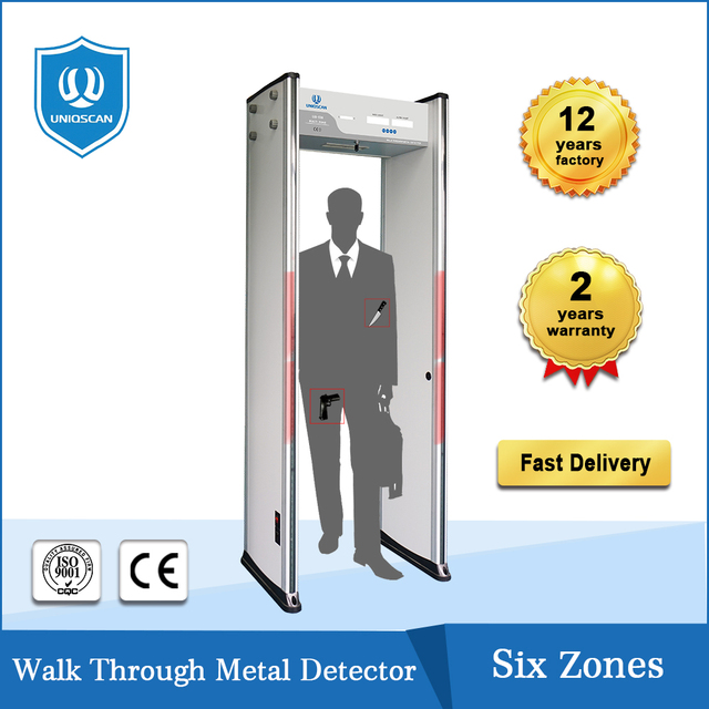High sensitivity cheap checkpoint system security equipment door frame walk through metal detector door made in china