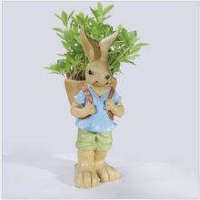 China Factory Wholesale Sweet Bunny Rabbit Resin Craft For succulents