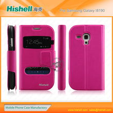 smart phone leather cover for samsung i8190 | GALAXY SIII Mini