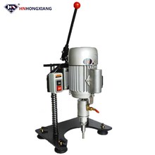hnhongxiang hand use portable manual mini glass drilling machine for glass processing machinery