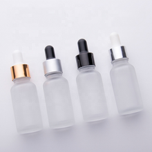 20ml frosted white essential oil bottle 20ml glass dropper bottles cosmetic <strong>container</strong>