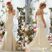 Best Selling Halter Sheath Lace Wedding Dress 2012