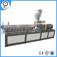 PVC vinyl Hdpe Plastic Twin Screw Extruder For Masterbatch