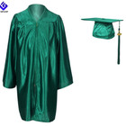Children Graduation Cap And Gown Shiny Emerald Green