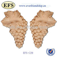 beautiful flowery hand carved wooden handicraft,wooden carving crafts (EFS-OG 01)