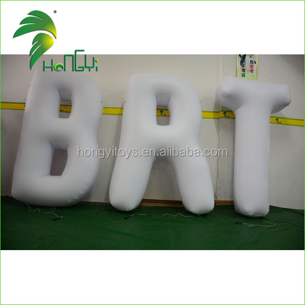 Air-tight PVC Durable Charming Inflatable Colorful LED Lighting Advertising Letter Model