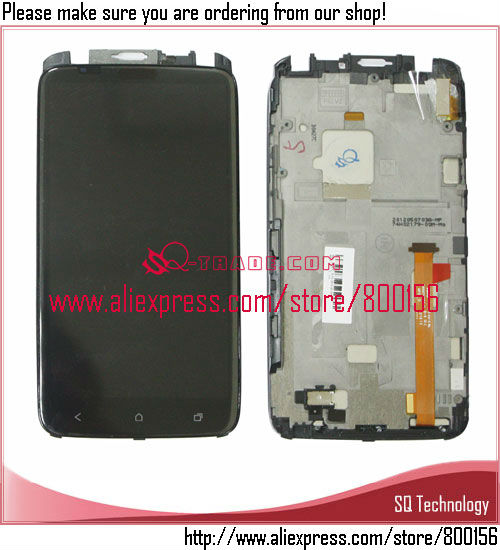 Alibaba Express Display LCD For HTC One X S720e G23 Touch Screen Assembly + Frame + Light