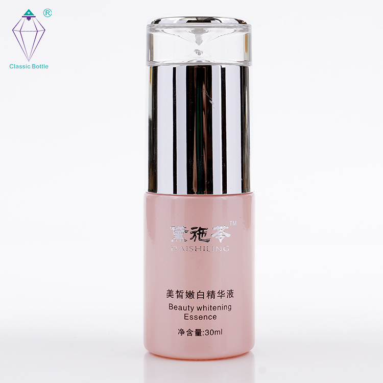 new design beautiful unique style color painted cosmetic glass bottle and jar