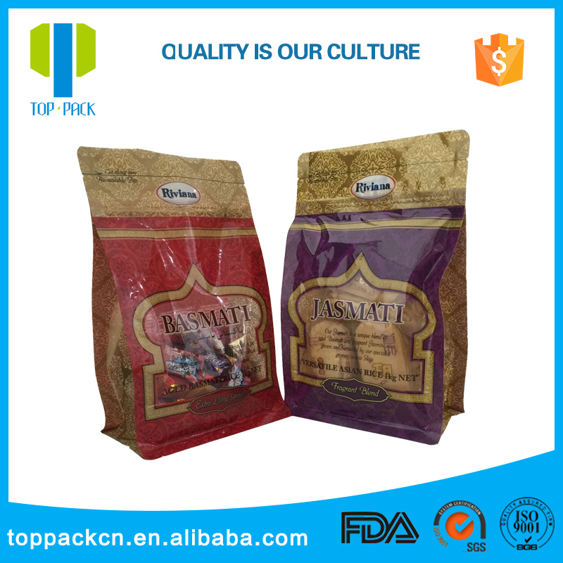2017 Amazon hot selling flat bottom bag snack packaging