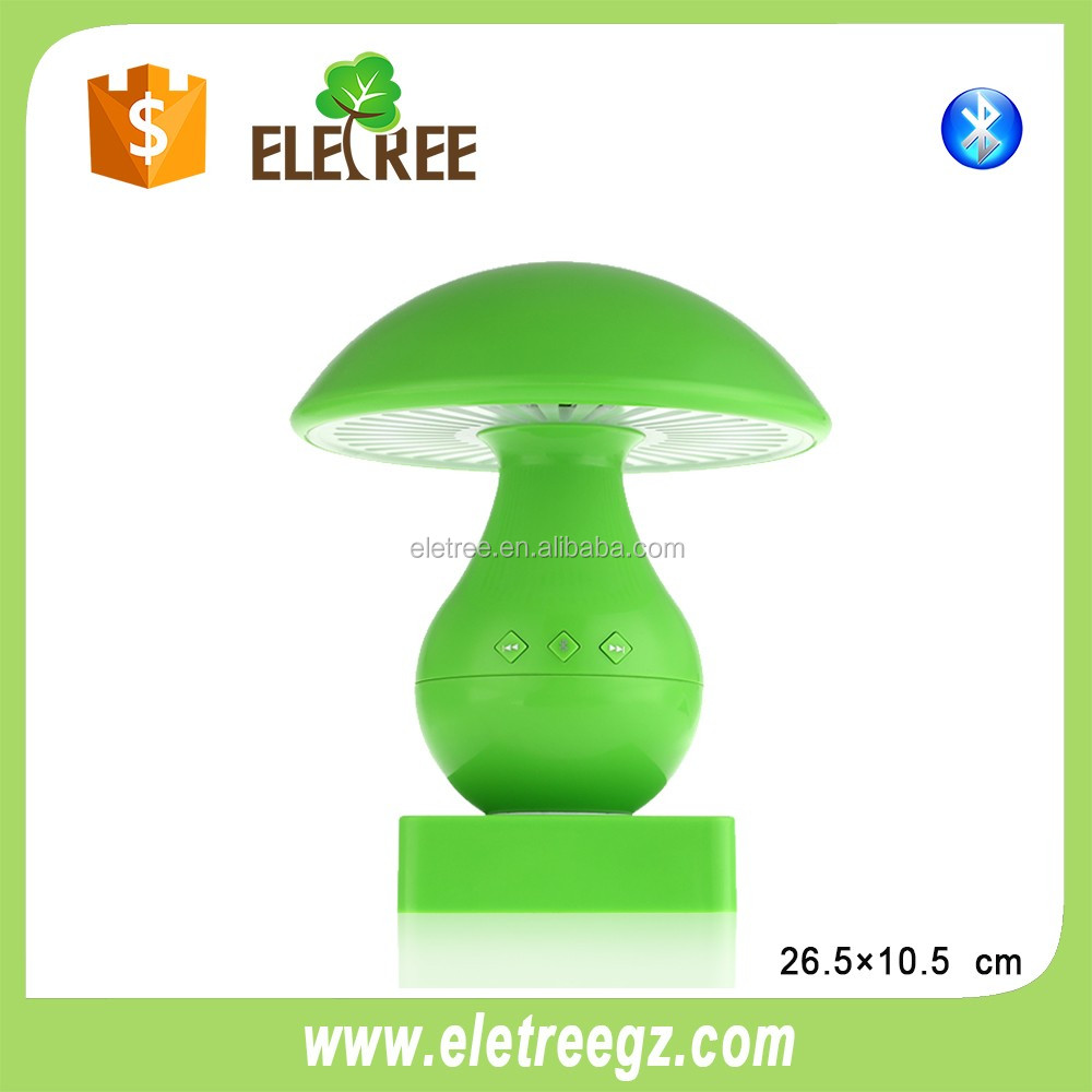 Hot sell manual for bluetooth speaker mushroom led light bedside lamp with hands free call and bluetooth function