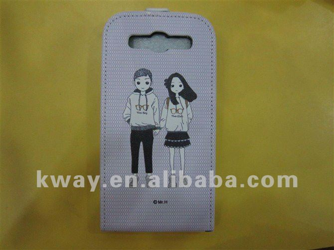 HOT! Fashion Flip 3D Cute Cartoon Design PU Leather Case Cover for Samsung Galaxy S3 S III i9300 KSH060