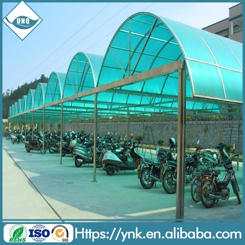 2016 new design custom wholesale Colored Cheap polycarbonate covering carport canopy