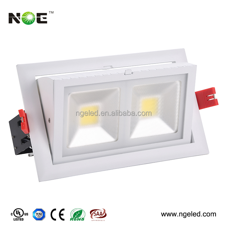 UL TUV CE SAA approved driver cob led downlight 48w rectangular led ceiling lamp