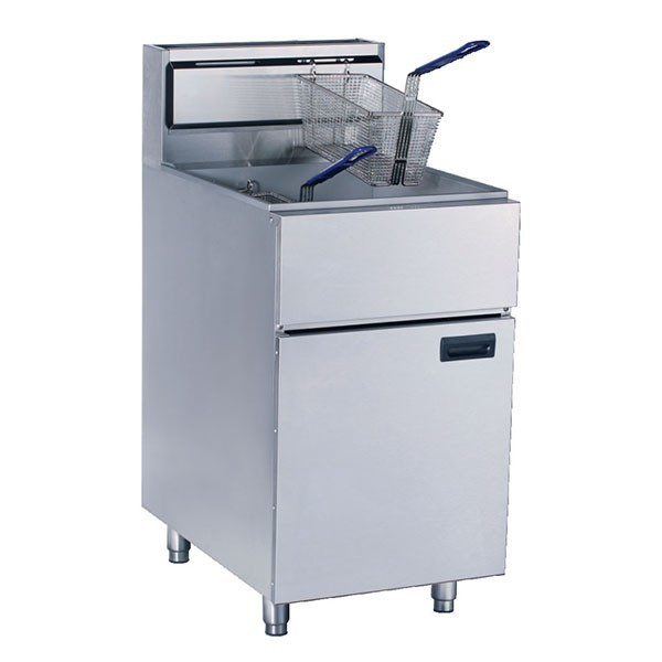 28L Gas Single Tank Two Baskets Free Standing Fried Chicken Fryer Machine/KFC Deep Fryer/Potato Chip Fryer