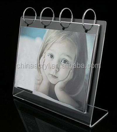 Clear Acrylic desk Calendar Stand for Calendar, Photos, and Recipes, Ideal Holiday Office Family Gift