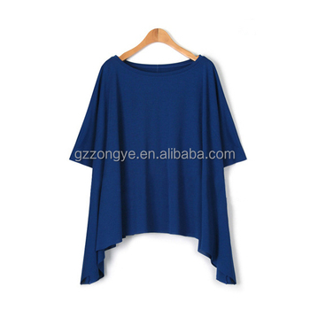 Casual summer loose wear blouse 100% cotton lady blouse