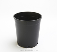 plastic plant pots wholesale, black plastic flower pot, black gallon planter pot