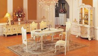 luxury dining room design antique solid wood dinning table with delicate carved