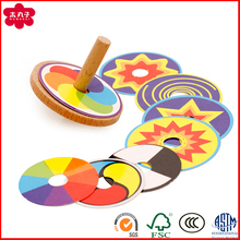 Muwanzi Branded High Quality Coloful Wooden Spinning Top for Kids' Classical Toy Games