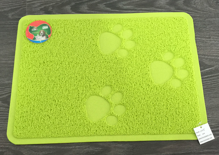 Paw shaped pet litter mat food feeding mat for dog cat
