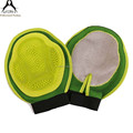 new product Gree color pet washing gloves wholesale