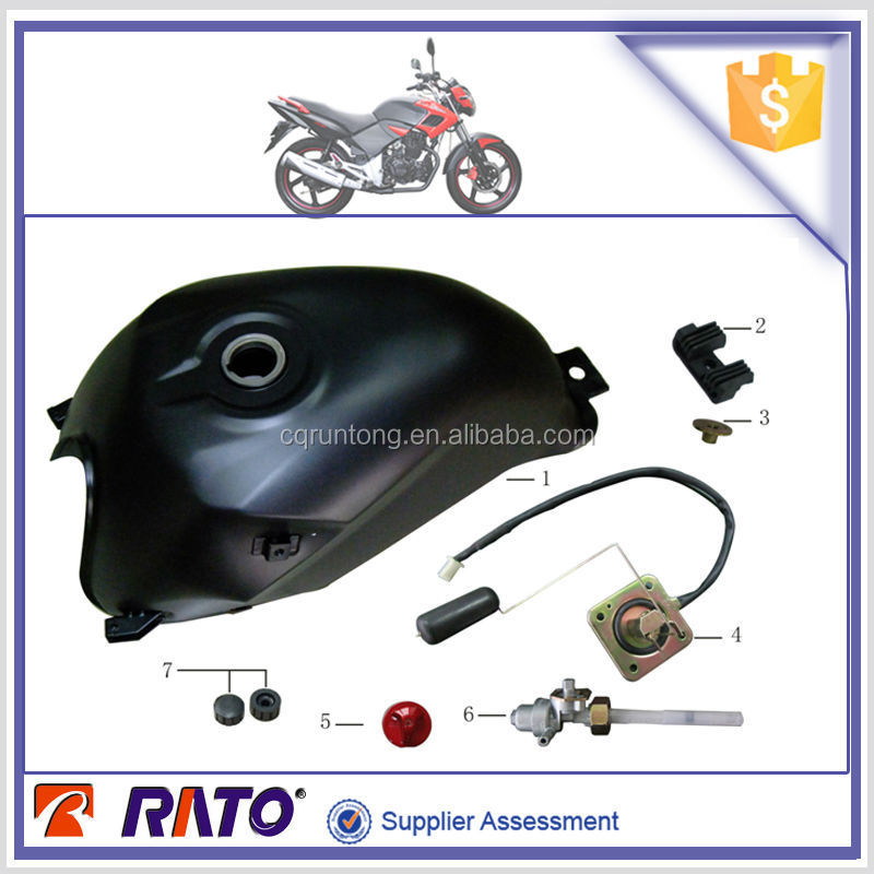 Motorcycle plastic fuel tank, motorcycle oil level sensor, fuel switch and motorcycle parts for ITALIKA FT180