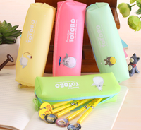 Promotion jelly candy silicone pencil case for girls