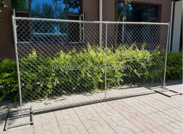 2100*2400 mm hot-dipped galvanized temporary chain link fence panel