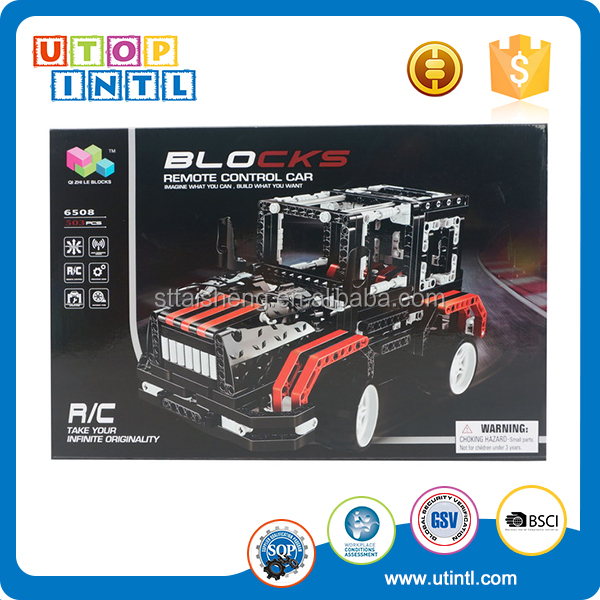 DIY RC ABS Plastic Building Block Car Educational Connector toys