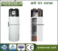 Sundez all in one heat pumps r413a external coil new technology air source
