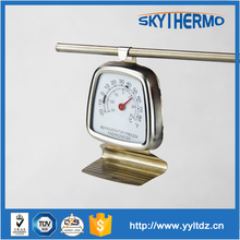 kitchen indoor hook Dial face stainless steel small round freezer bimetal thermometer