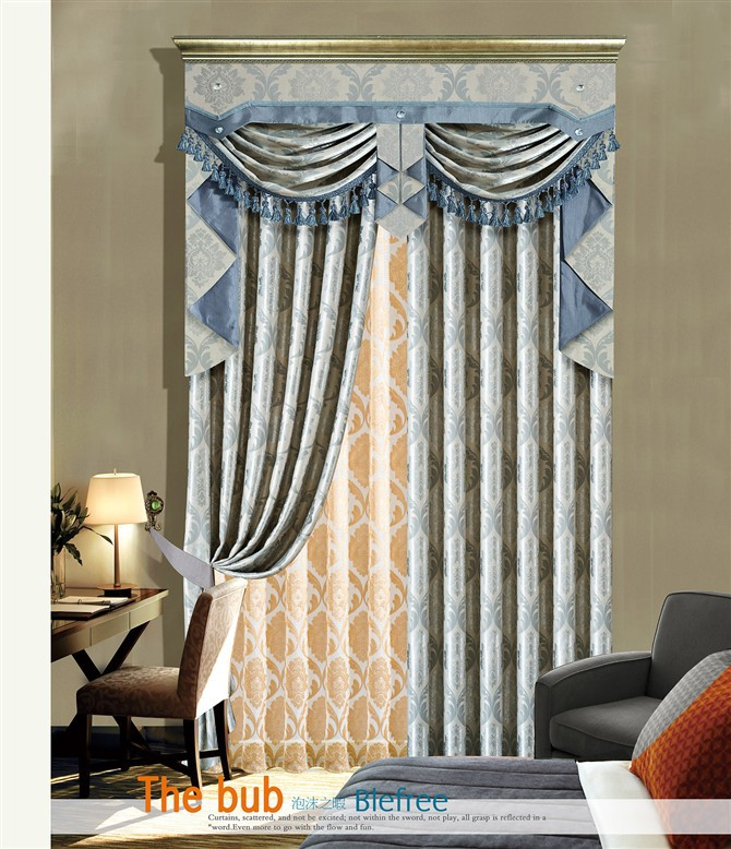 special design jacquard window curtain with fancy window cotton curtain valance window curtain patterns