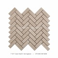 Premium Polished Herringbone Cream Marfil Mosaic Yellow Marble Stone