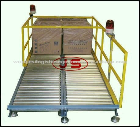JS Roller conveyor type carrying car, Non power roller conveyor