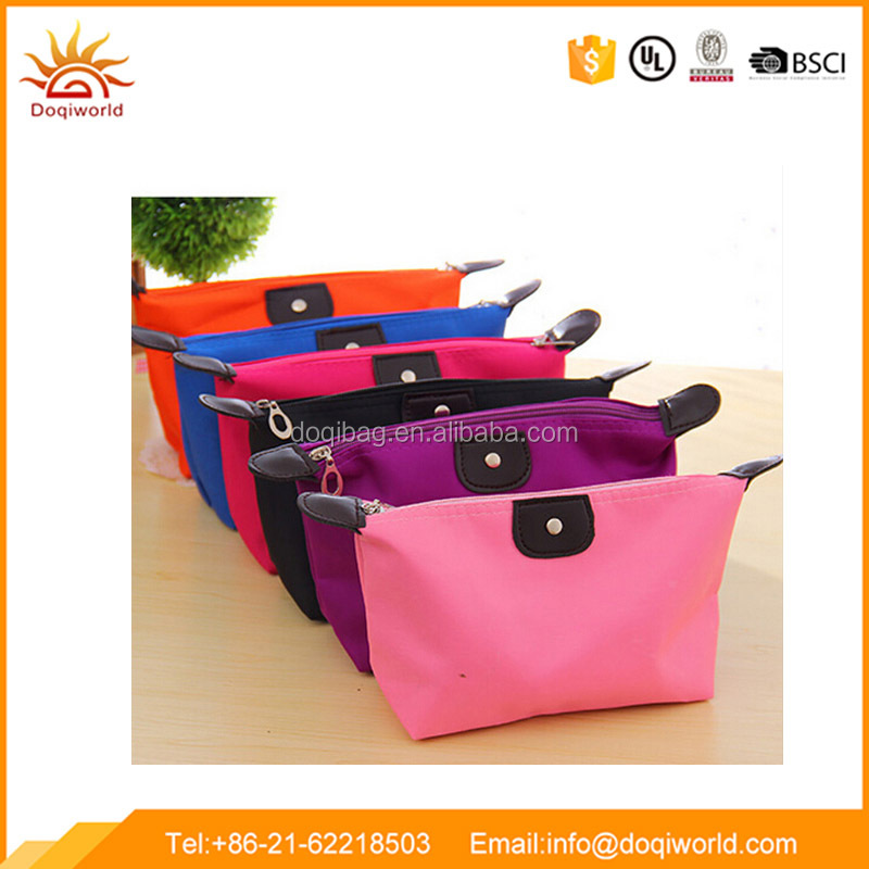 Colorful 190T small makeup bag cosmetic for selling