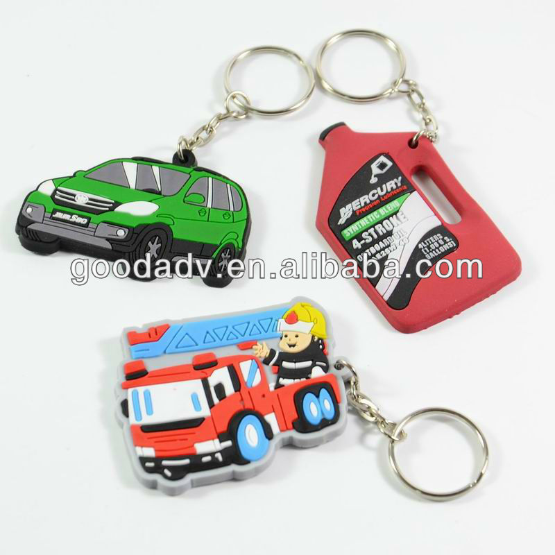 promotional gifts pvc car keychains custom keyring with cheap price