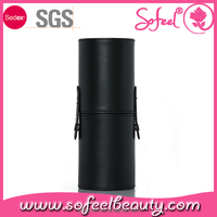Quality black Makeup cylinder brush case