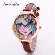 FanTeeDa Top Luxury Brand Women Watch Fashion Casual Female Model Leather Strap Ladies Girl Quartz Watches