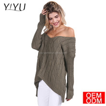 Autumn Criss cross top Backless knitted sweater women 2017 spring Oversized knitwear Loose jumpers white pullover