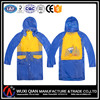 pvc children waterproof raincoat with a hat