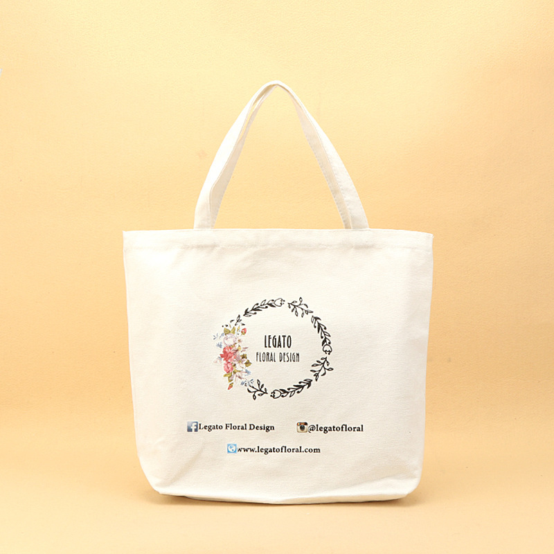 White Color Cotton Shopping Canvas Tote Bag With Gusset For Women ... 8e1dedaf69
