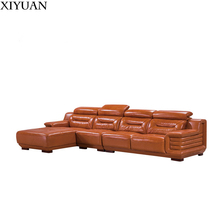 Sofa set designs modern Modern Corner Sofa Home Living Room Corner Leather Design L Shaped Sofa Set