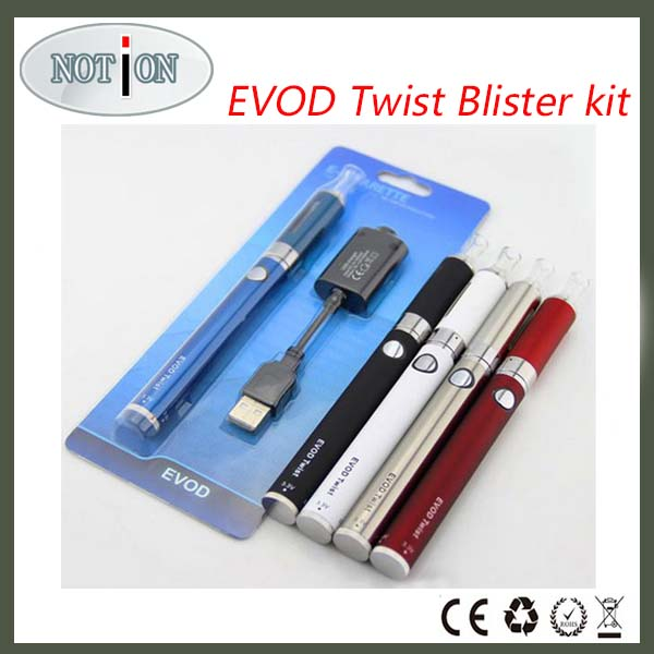 2014 New Design Fashion Single Evod Twist Blister Pack with 1100mah evod battery