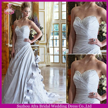 SD1415 sweetheart appliqued lace train cheap light sky blue wedding dresses