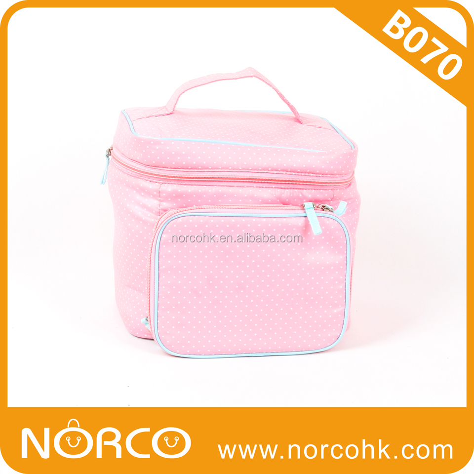 Fasional Makeup Case, Cosmetic Case, Nylon with Heat Transfer Print