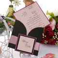 2016 Hot Sales Square Luxury Fold Wedding Invitation Greeting Card